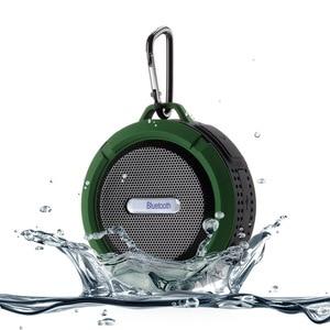 Image 5 - ميكرفون بلوتوث محمول C6 دش مقاوم للماء الهاتف يدوي مكبرات الصوت مع مصاصة كأس هوك TF بطاقة مشغل موسيقى