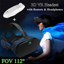 FOV 112 Fiit VR Headset Case Virtual Reality Glasses with Headphone Visor 3D VR Goggle Box for Iphone X 8 8plus Xiaomi LG Huawei