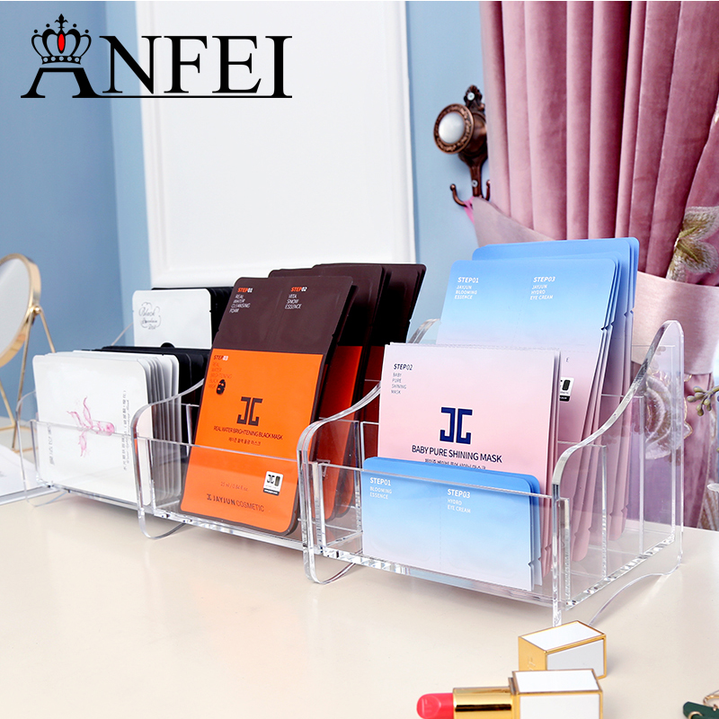 ANFEI Acrylic Remote Control Phone/Paper Towel/Key/Pen Storage Glasses Organizer Desktop Stand Holder Cosmetic Makeup Organizer