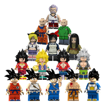 8Pcs/lot Dragon Ball Figure Z Son Goku Vegeta Master Roshi Krillin Building Block Brand Figures Set Models Toys For Children