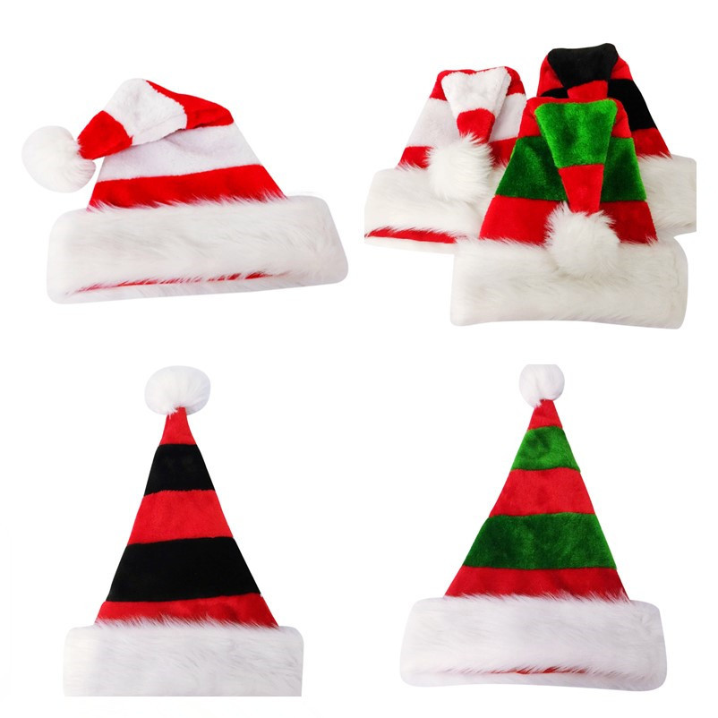 3 Styles Striped Christmas Hats Merry Christmas Caps Hat For Adult And Kids XMAS Decoration New Year