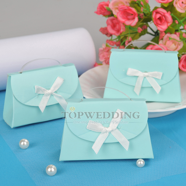 Wholesale 60pcs/lot NEW Sky Blue Ladiesu0027 Handbag Design Wedding Party Favors  Baby Shower