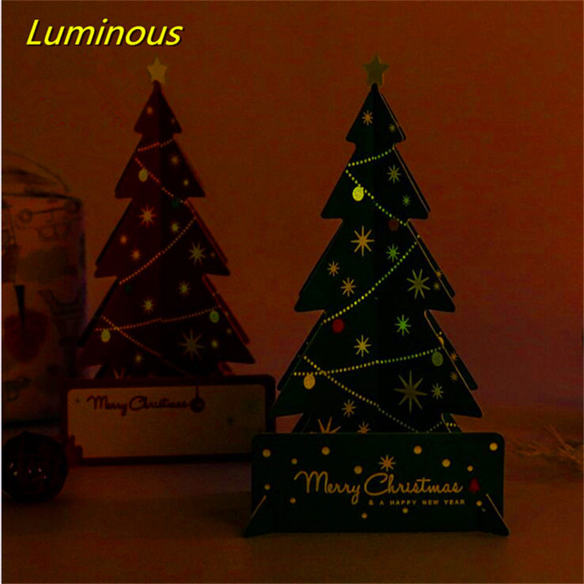 Aliexpress.com : Buy 3D Christmas Card Luminous Postcard including ...
