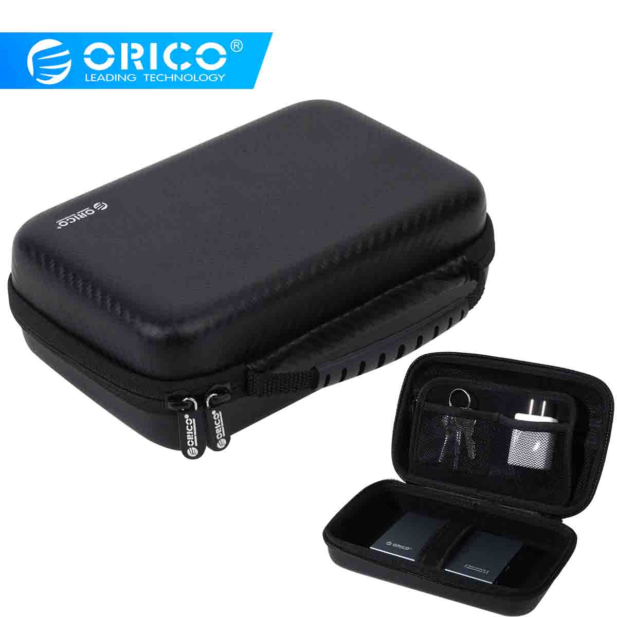 ORICO 3.5 Disco Rígido Caso HDD Portátil Saco de Proteção EVA À Prova de Choque para Fone de Ouvido Externo 3.5 polegada Disco Rígido U Disco banco do poder
