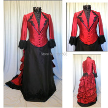 Victorian Corset Gothic/Civil War Southern Belle Ball Gown Dress Halloween dresses  US 4-16 V-409