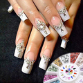 Популярные 12 цветов 3 мм Waterdrop горный хрусталь ногтей салон наклейки советы DIY украшения с колеса 67QE