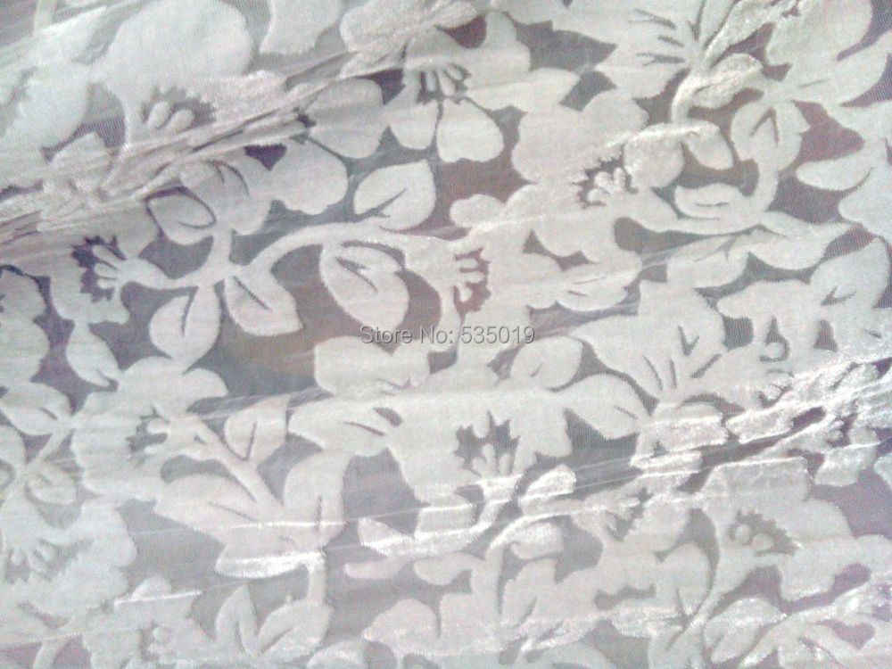 Telas Gratis Tulle Gulungan African Renda Kain Untuk Menjahit Tirai syal gaun Sutra kain Katun Meter Putih Bunga kain beludru