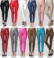 2017 Newest Sexy Women Faux Leather Stretch High Waist Leggings Juniors Pants 8 Colors WTP0112