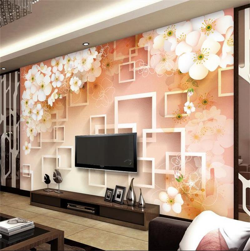 3d room photo wallpaper custom mural mural non woven for Custom mural wallpaper uk