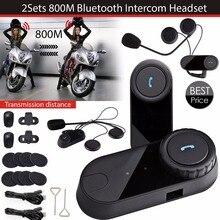 Actualización FM Raido de videojuegos casco BT intercomunicador de Bluetooth del intercomunicador del auricular de la motocicleta cascos de esquí Interphone