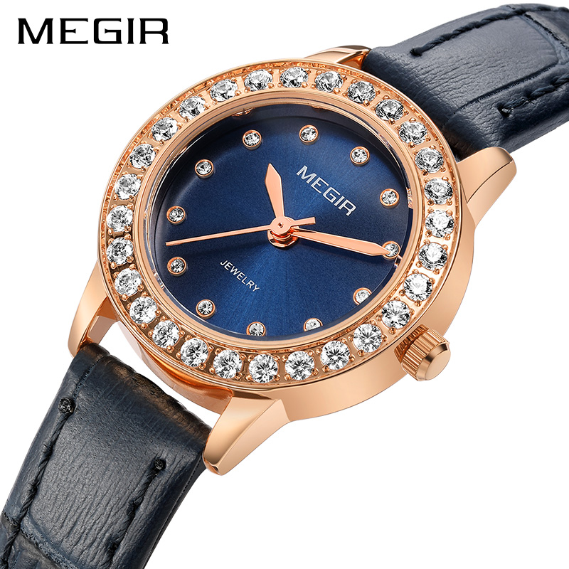 Megir Brand 8 MM Ultra-Thin Quartz Watch Women Luxury Ladies Watches Genuine Leather Wristwatch for Woman Female Relogio RelojMegir Brand 8 MM Ultra-Thin Quartz Watch Women Luxury Ladies Watches Genuine Leather Wristwatch for Woman Female Relogio Reloj