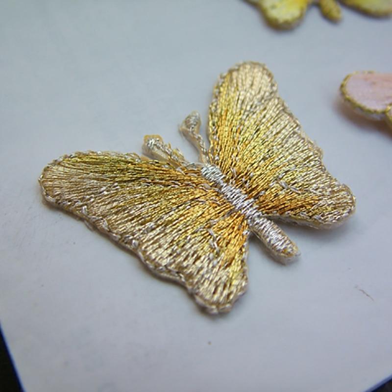 Freies schiff Eisen auf kleidung stoff Schmetterling patch applique ...