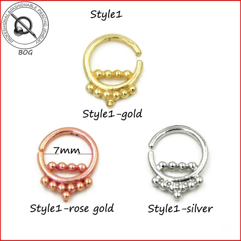 Malena veličina 1 komad pravi rukav prsten probušen piercing Septo - Modni nakit - Foto 2