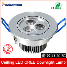 Wholesale 9W Ceiling downlight Epistar LED ceiling lamp Recessed Spot light AC85-265v for home illumination Free shipping