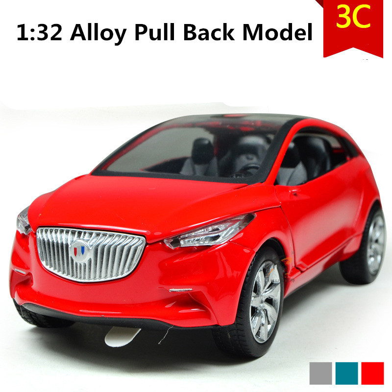 Buick concept car model, 1:32 scale Alloy Pull Back cars,Diecast suv,flashing boy,girls toys,free shipping ...