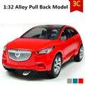 Buick концепт-кар модели, 1:32 масштаб Сплав Вытяните Назад автомобили, Литье Под Давлением внедорожник, мигает мальчик, игрушки девочек, бесплатная доставка
