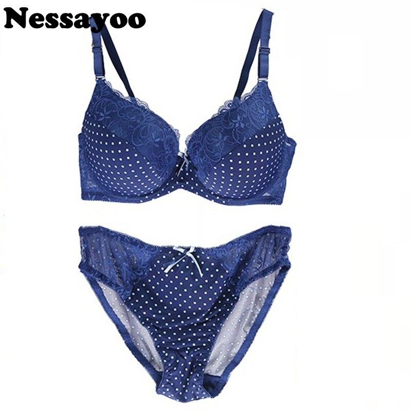 Plus Size   Bra     Set   85D 90D 95D Cup Underwear Oversized Lace Women Lingerie 40 42 Puse Up   Bra   &   Brief     Sets   Sexy Intimates Hot sale