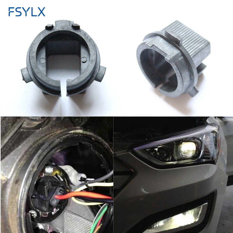 2012 Hyundai Veloster Coupe H7 Xenon Bulbs Adapter For Low Beam HID Kit Genesis