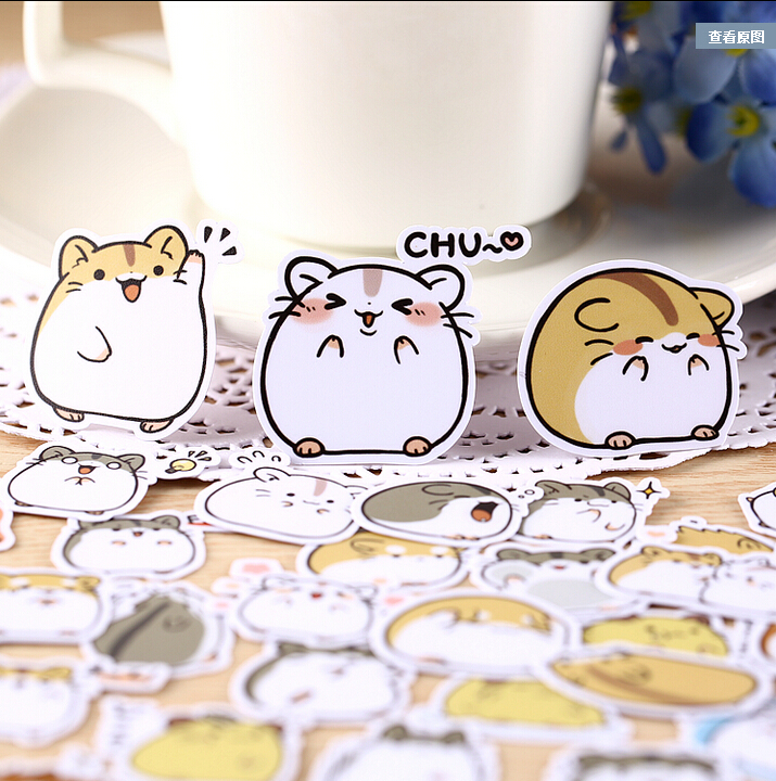 39pcs Creative Kawaii Self-made Small Hamster Stickers Beautiful Stickers /decorative Sticker /DIY Craft Photo Albums