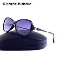 Blanche Michelle 2020 kare polarize güneş gözlüğü kadın UV400 marka tasarımcısı degrade güneş gözlüğü oculos feminino kutusu ile