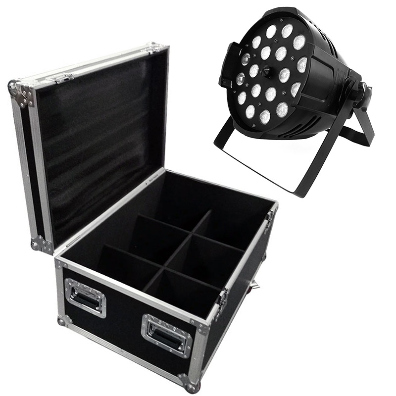 Flight Case/6pieces LED Par 18x18W Aluminum Alloy RGBWA+UV Lighting Stage Lighting Zoom Function 10 60 Degree Smooth Dimmer