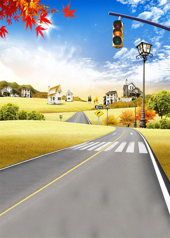 Countryside road background for photo shooting photography backdrops for kids photo studio photographic background fotografia meking photographic studio photo table shooting tables with plexi cover 1m 2m background shooting board