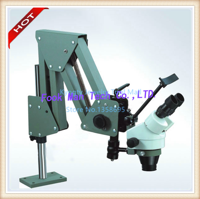 Free Shipping Jewelry Inspection Tools GRS ACROBAT 7X-45X Microscope for Watch Making LED Light As Gift