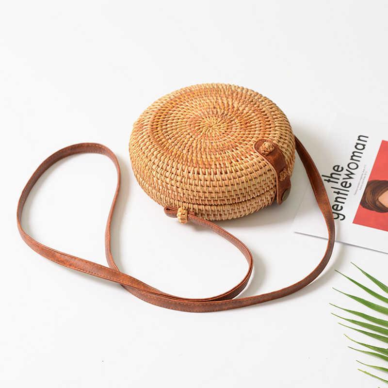 GEONYIEEK 2019 Новая модная круглая соломенная сумка женская летняя сумка из ротанга ручная работа тканая пляжная сумка для женщин сумка