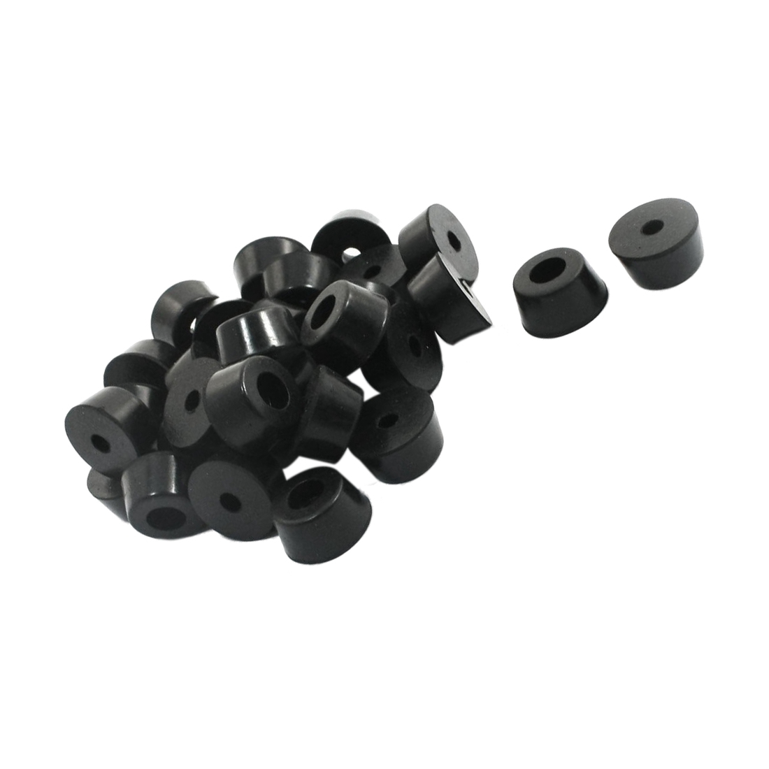 Home Furniture Black Rubber Feet 13 Mm X 7 Mm 30 PCS