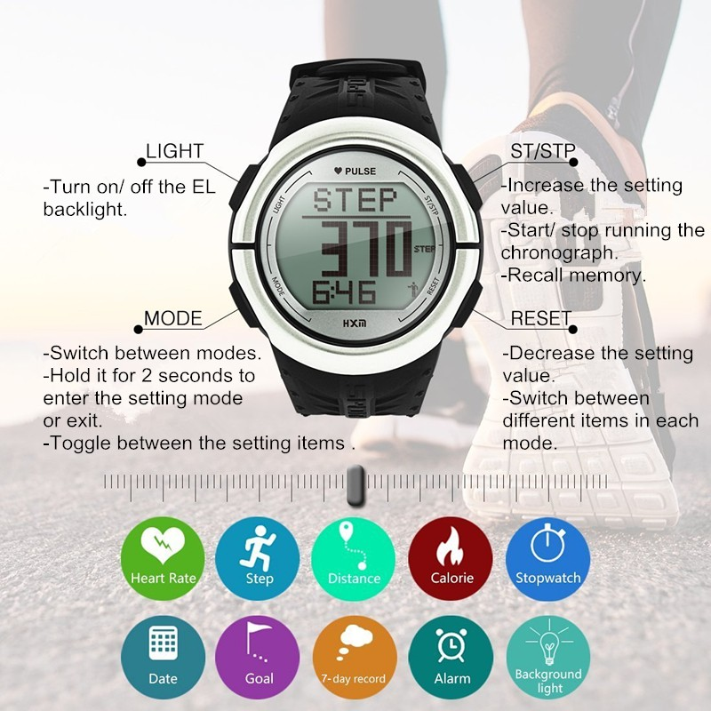 multifunction pedometer watch