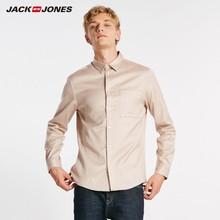 Jackjones algodão de negócios casual camisa masculina 218305558