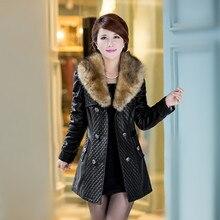 Бесплатная доставка! Новый 2015 овец пайпи одежды женский хан издание воспитать в себе мораль в длинное платье кожаный плащ