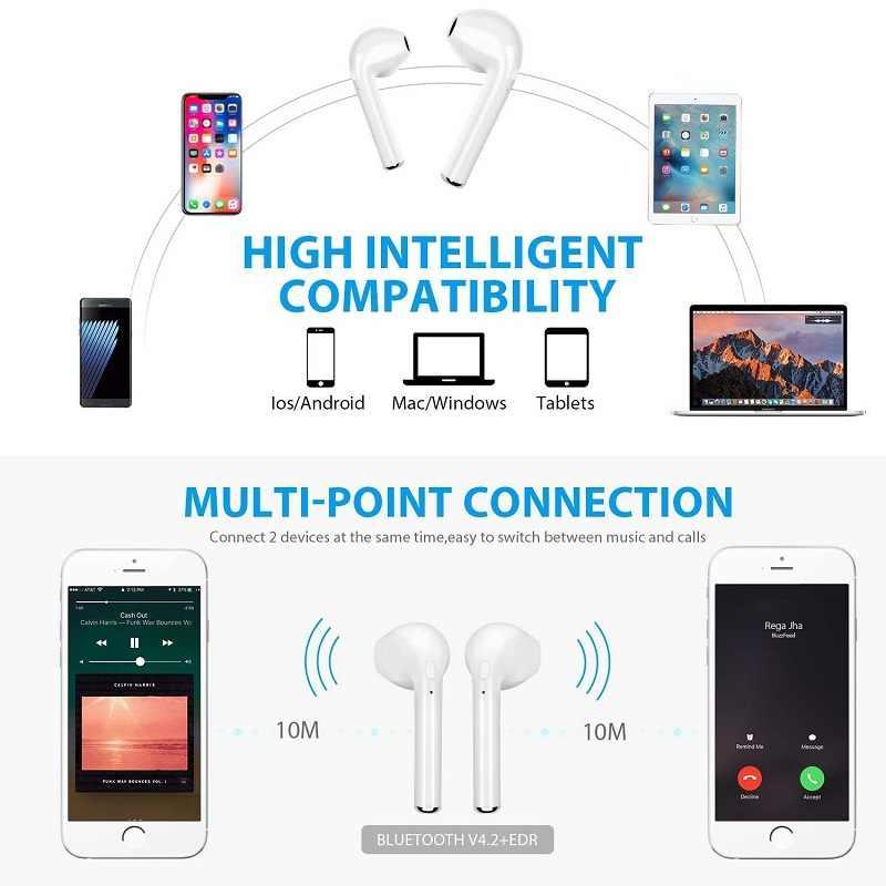 I7s TWS 5.0 Draadloze Bluetooth Hoofdtelefoon voor Teclast X98 Air III Dual OS Tablet Oortelefoon Muziek Oordopjes Opladen Doos