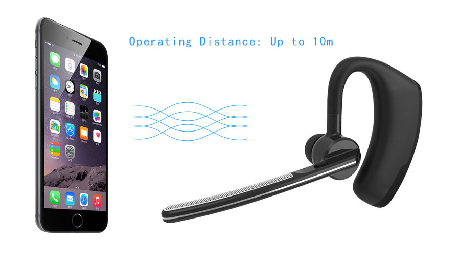Business Bluetooth Earphone Wireless Handsfree Bluetooth V4.1 Headset With Microphone Headphone Voice For Iphone Sumsung Android03