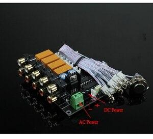 Image 2 - AC/DC аудио вход селектор сигнала релейная плата стерео сигнал переключатель усилитель плата RCA для динамиков