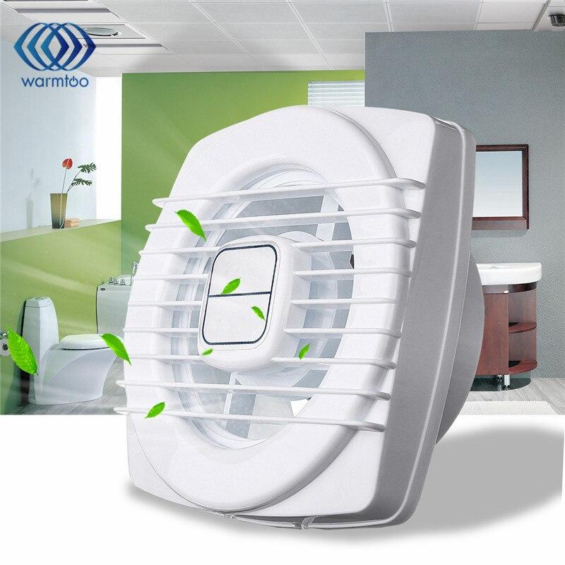 4 Inch White Mini Exhaust Fan Ventilation Blower Window Wall Kitchen Bathroom Toilet Fan Hole