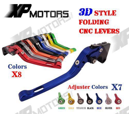 CNC Adjustable 3D Feel Folding Brake Clutch Lever For BMW K1200R 05-08 K1200S 04-08 K1300 R/S/GT 09-15 K1600 GT/GTL 11-15 adjustable billet long folding brake clutch levers for bmw k1600 gt gtl 11 14 12 13 k1300 k1200 r s r1200 r rt s st gs 04 14 05