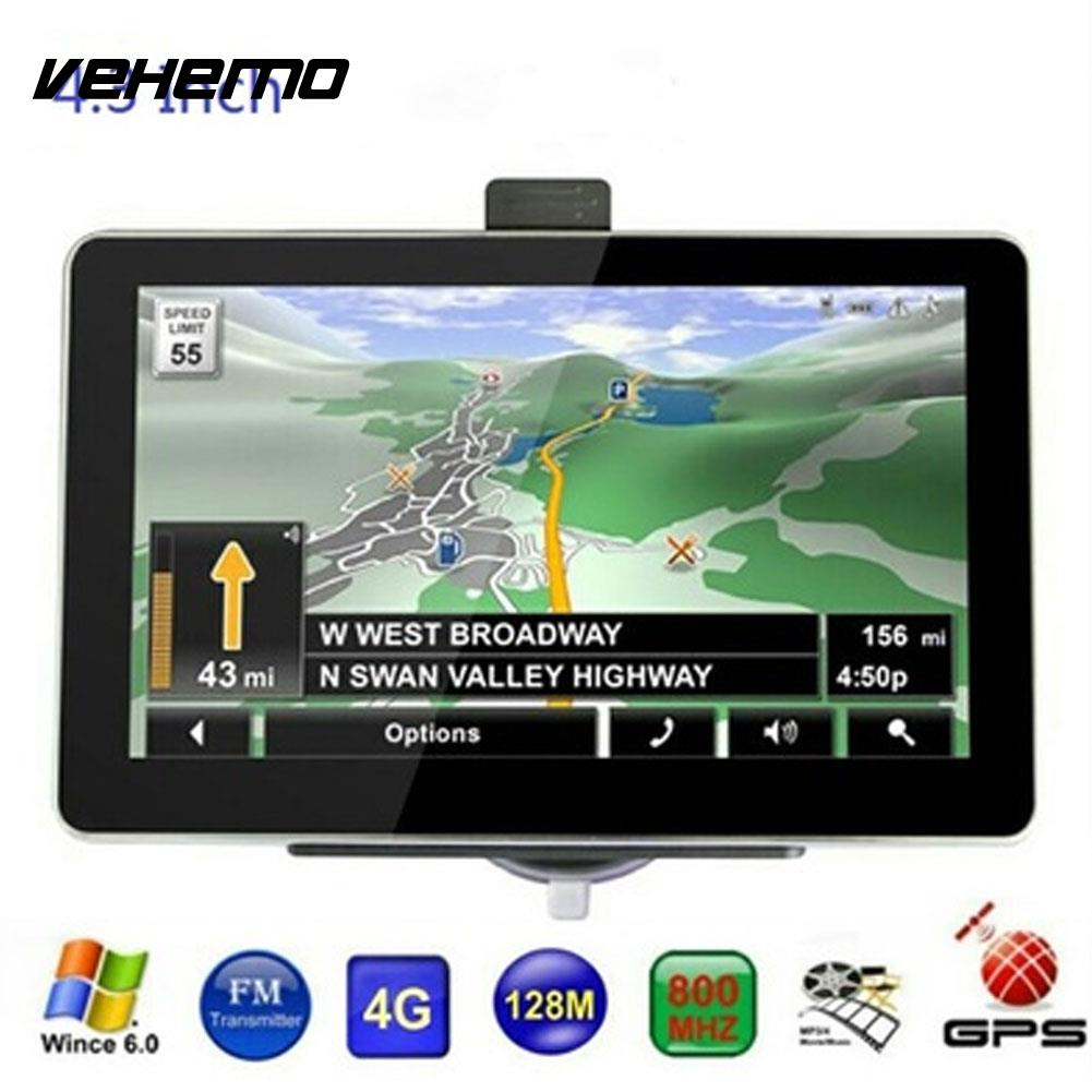 Vehemo 4GB MP4 Player Car Navigation Navigation Player Smart Hands-Free Car GPS Navigator MP3 Player Premium Stereo mp3 smart highperformance navigation player mp3 player hands free motor car navigation mp4 player stereo automobile