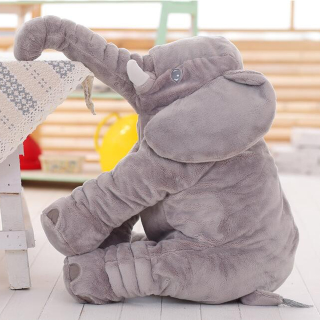40/60CM  Elephant Plush Pillow Infant Soft For Sleeping Stuffed Animals  Toys Baby 's Playmate gifts for Children WJ346 4