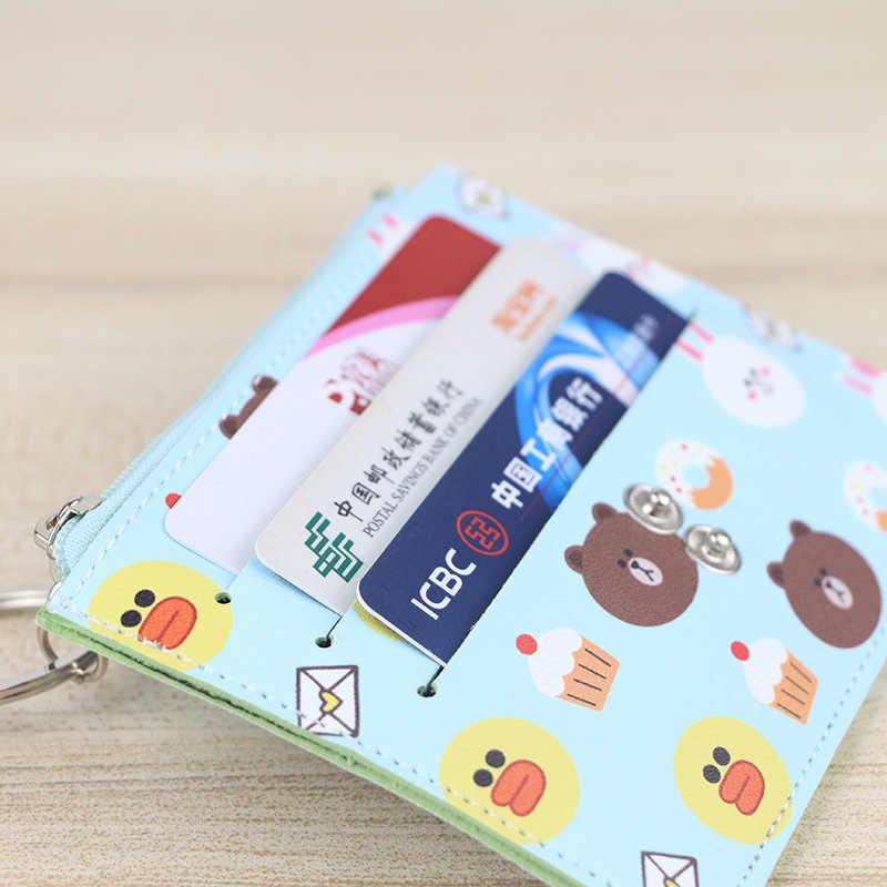 Новый модный держатель для карт с героями мультфильмов, 6 бит, милый держатель для карт, женский и мужской мини-кошелек для кредитных карт, студенческий Кошелек для монет KB034