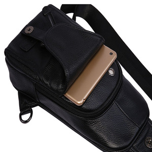 Image 5 - גברים באיכות גבוהה עור פרה אופנה חבילת חזה קלע חזרה חבילה רכיבה צלב גוף שליח אחד כתף תיק