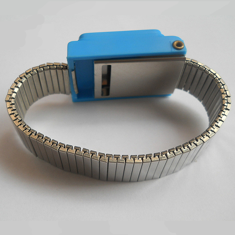 Antistatisk armbånd Esd Håndleddsrem Blue Metal Discharge for Electrician IC PLCC worker Gratis frakt