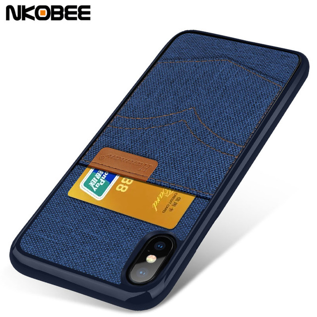 huge selection of b52d6 3ab0c US $4.77 |NKOBEE For iPhone X Wallet Case Phone Back Coque For iPhone X  Luxury Case Fabric TPU Cover For X iPhone 10 Case Ultra Thin -in Fitted  Cases ...