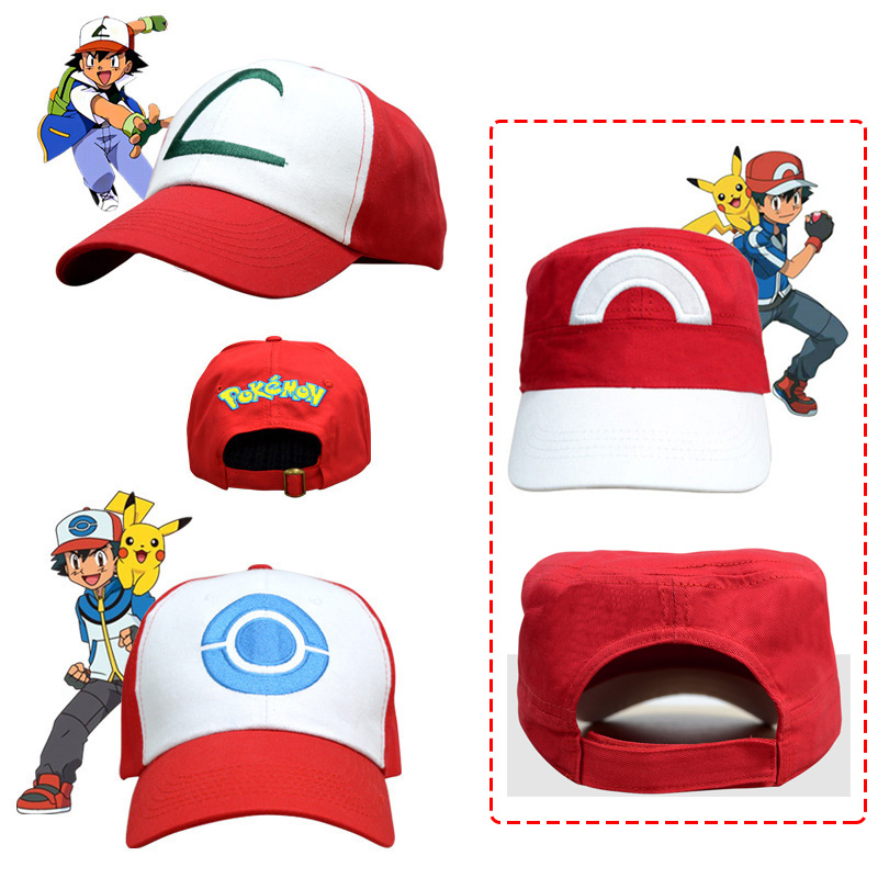 Free Shipping Anime Pocket Monster Halloween Cosplay Costumes Hats for Adult Kids(10years more than) Pokemon Cap Ash Ketchum