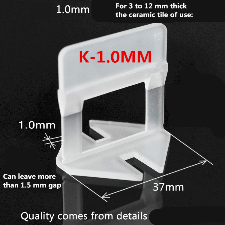 400pcs Tile Leveling System 300 Clips With 100 Wedges Plastic Spacers Tiling Tool Plastic1.5mm Gap Prevent displacement (3)