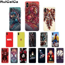RuiCaiCa Marvel Superheroes The Avengers movie art TPU Phone Case Shell for iPhone X XS MAX  6 6s 7 7plus 8 8Plus 5 5S SE XR