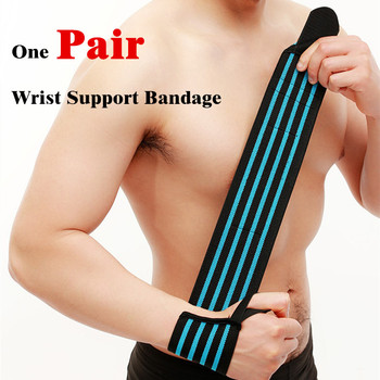1 Pair WeightLifting Fitness Gloves Gear Weight Lifting Gym Equipment  Body Building Crossfit Wrist Support Wraps Brace L346 1