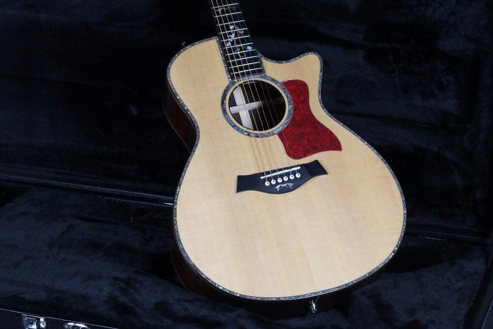 40 ''Cutway 916 guitare acoustique électrique b-band micros ébène touche Grover Tuner haut rigide - 3