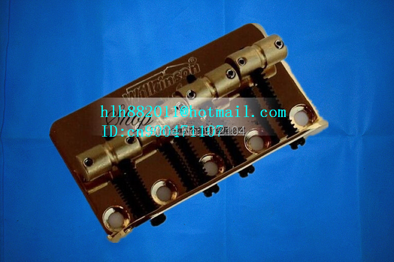 new wilkinson 4 strings electric bass guitar bridge in gold L18-1 free shipping new single wave electric guitar wilkinson bridge wvcsb in gold 8351