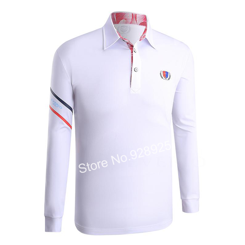 2017 autumn men golf shirts long-sleeve training garment sports jersey striped shirts polo tops golf wear brand shirt Navy